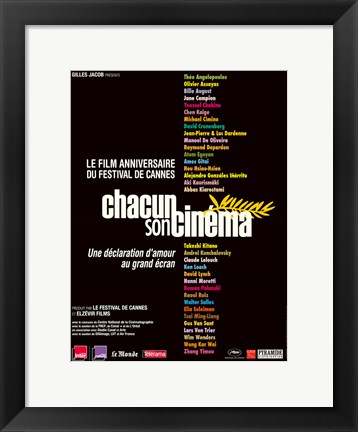 Framed To Each His Cinema - names Print