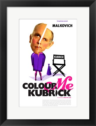 Framed Colour Me Kubrick Print