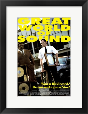 Framed Great World of Sound Print