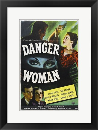 Framed Danger Woman Print