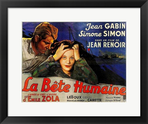 Framed Judas Was a Woman La Bete Humaine Film Print