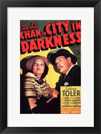 Framed Charlie Chan in City in Darkness Print