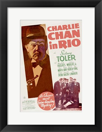 Framed Charlie Chan in Rio Print