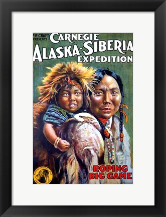 Framed Alaska-Siberian Expedition Print