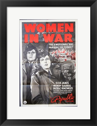 Framed Women in War Print