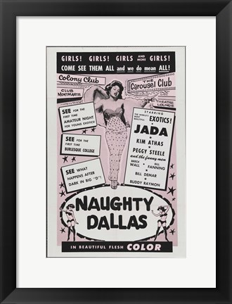 Framed Naughty Dallas Print