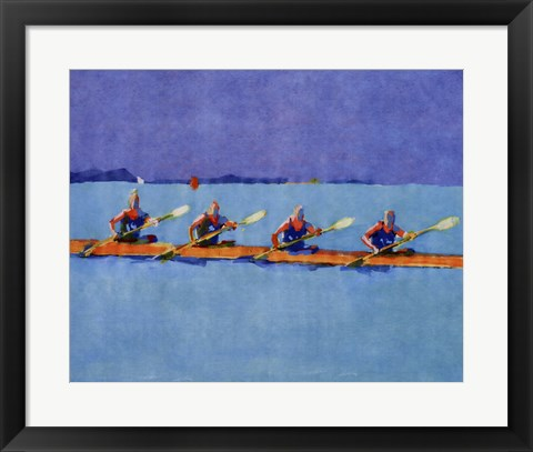 Framed Rowers Print