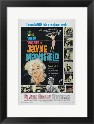 Framed Wild World of Jane Mansfield Wild Print