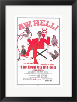 Framed Devil By the Tail Print