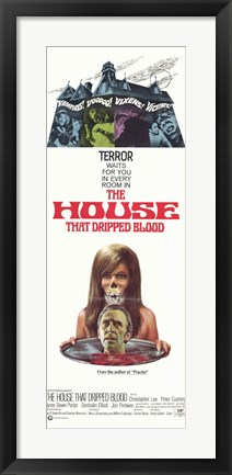 Framed House That Dripped Blood Print