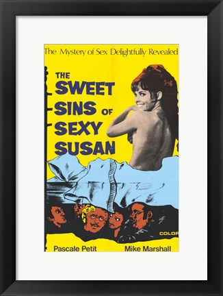 Framed Sweet Sins of Sexy Susan Print