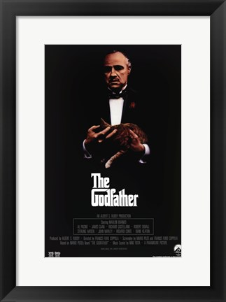 Framed Godfather Movie Poster Print