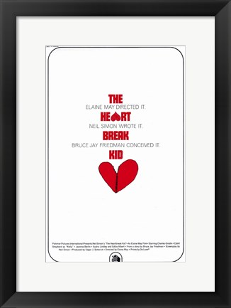 Framed Heartbreak Kid Movie Print