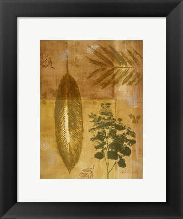 Framed Shades of Gold I Print