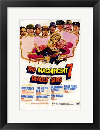 Framed Magnificent Seven Deadly Sins Print