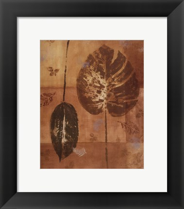 Framed Shades of Gold II Print