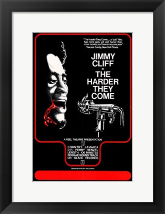 Framed Harder They Come - Black Print