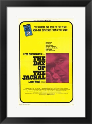 Framed Day of the Jackal Film Print