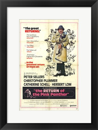 Framed Return of the Pink Panther Detective Print