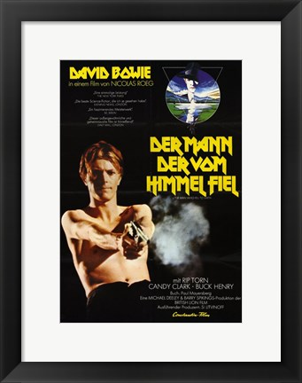 Framed Man Who Fell to Earth David Bowie Print