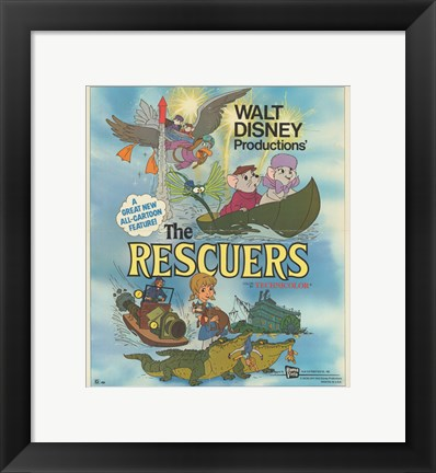 Framed Rescuers Print