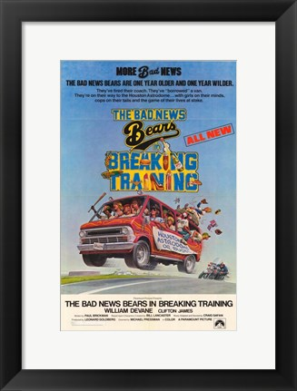 Framed Bad News Bears in Breaking Training Print