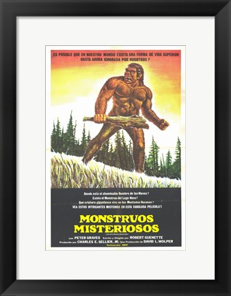 Framed Mysterious Monsters Print