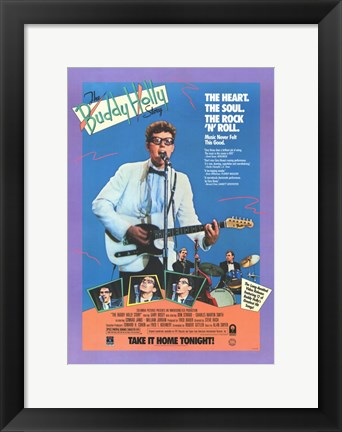 Framed Buddy Holly Story Heart, Soul of Rock N Roll Print