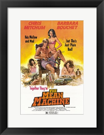 Framed Mean Machine Print