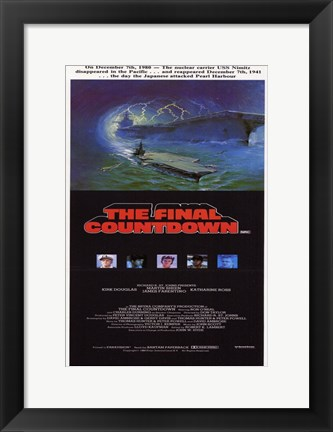 Framed Final Countdown Print