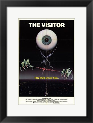 Framed Visitor (movie poster) Print