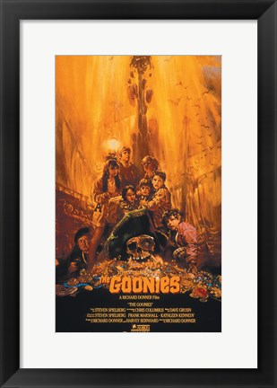 Framed Goonies - Yellow Print