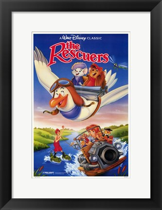 Framed Rescuers - Flying Print