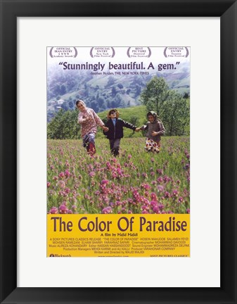 Framed Color of Paradise Print