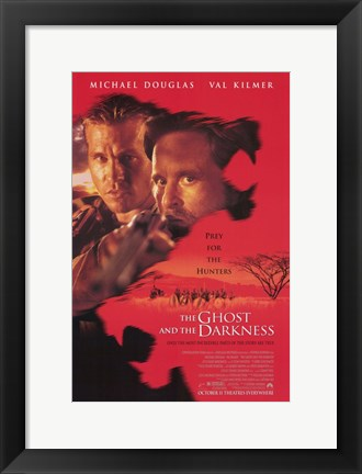 Framed Ghost and the Darkness Douglas and Kilmer Print