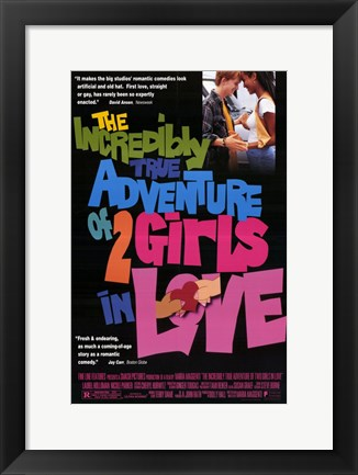 Framed Incredibly True Adventure of 2 Girls in Love Print