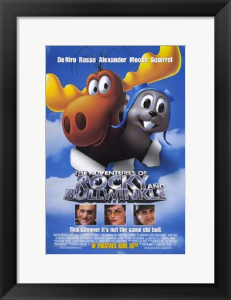 Framed Adventures of Rocky and Bullwinkle Print