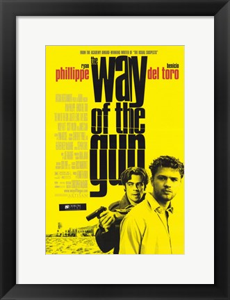 Framed Way of the Gun (movie poster) Print