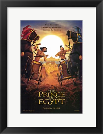 Framed Prince of Egypt Two Brothers Divided Print
