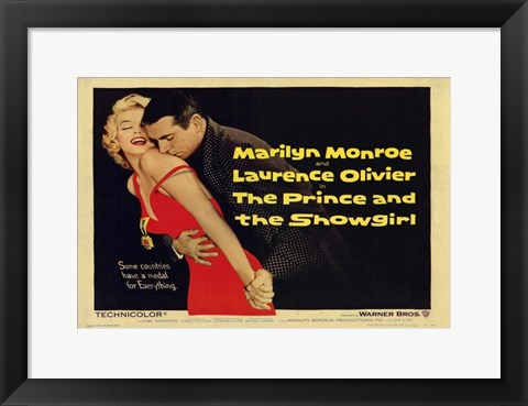 Framed Prince and the Showgirl Monroe & Olivier Print