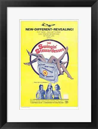 Framed Swingin' Stewardesses Print