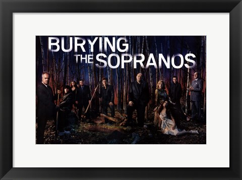 Framed Burying The Sopranos - woods Print