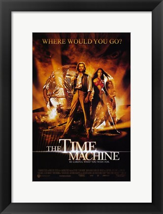 Framed Time Machine - where would you go? Print
