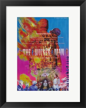 Framed Wicker Man Print