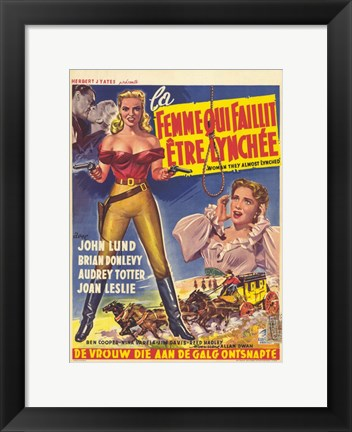 Framed Woman They Almost Lynched (movie poster) Print
