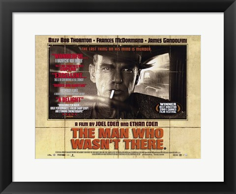Framed Man Who Wasn't There Billy Bob Thornton Print