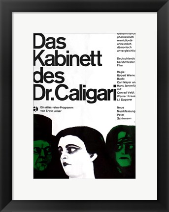 Framed Cabinet of Dr. Caligari Print