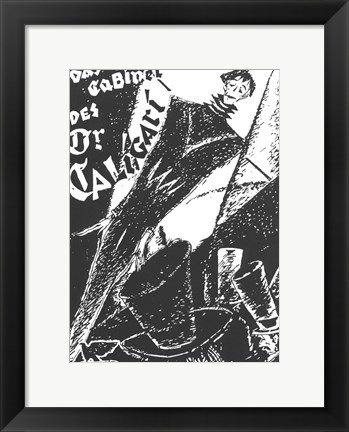 Framed Cabinet of Dr. Caligari - black and white Print