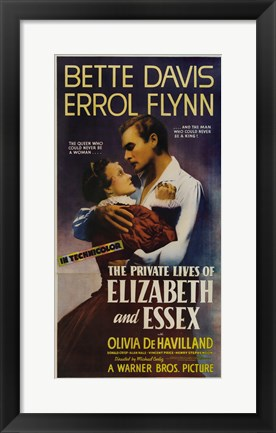 Framed Private Lives of Elizabeth and Essex Print