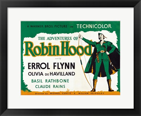 Framed Adventures of Robin Hood Green Horizontal Print